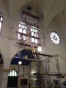 St. Phillips Church, Brooklyn NY Plaster repair and paint.