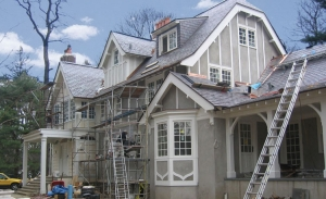 Scarsdale NY residence - Stucco and Wood trim painting