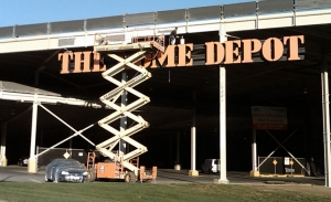 Home Depot/Costco parking lot - Yonkers, NY - complete steel preparation and painting