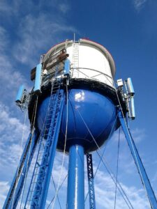 Exterior Water Tower Painting in NJ